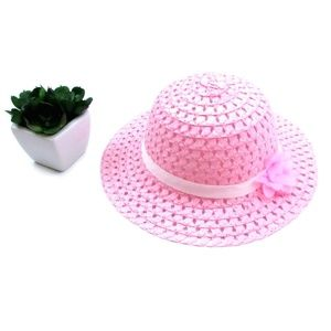 Pink Ribbon and Flower Fashion Straw Sun Hat